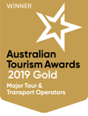 australian tourism awards gold 2019