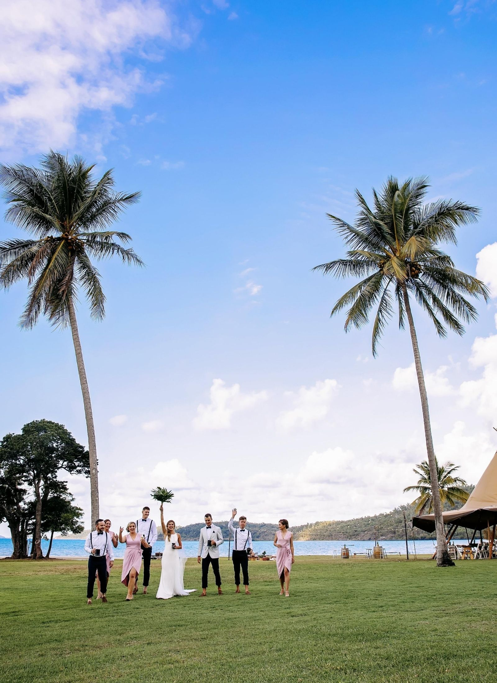Bridal Party at Paradise Cove Resort