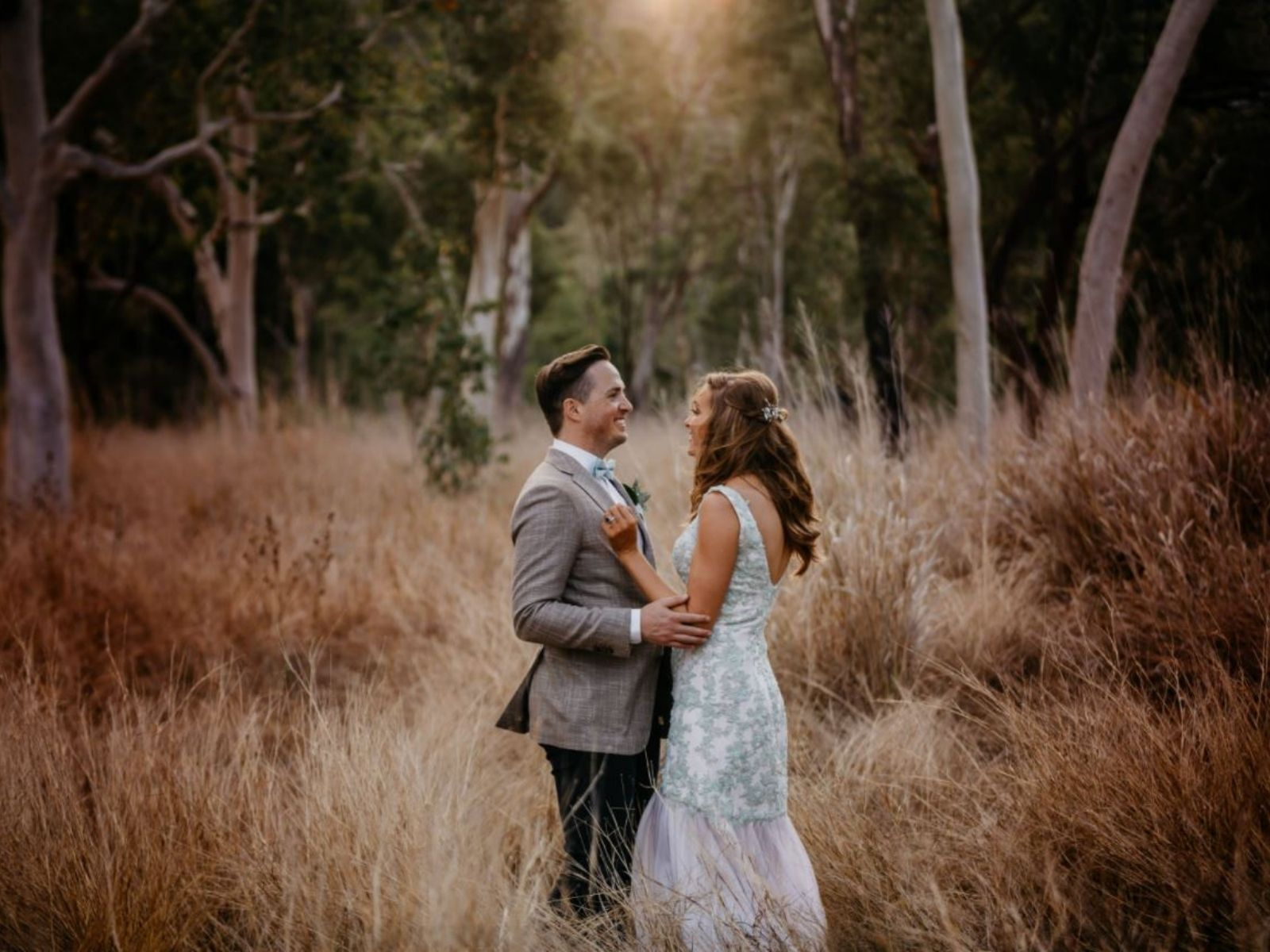Bride and Groom in the Australian bush
