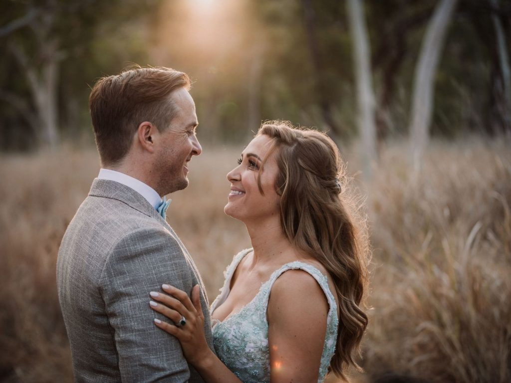Bride and Groom in the Australian bush
