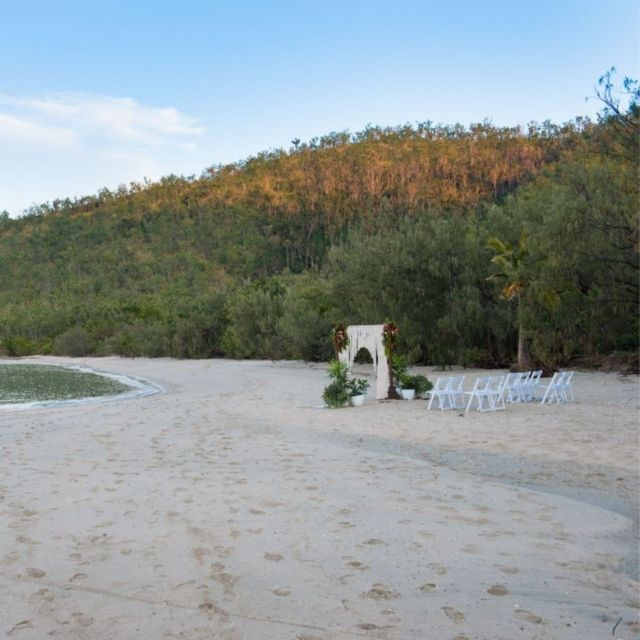 Wedding Ceremony on the beach at Paradise Cove Resort