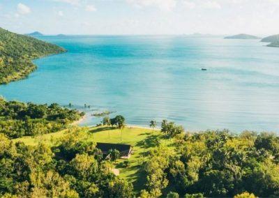 Aerial image of Paradise Cove Resort and the Whitsunday Islands
