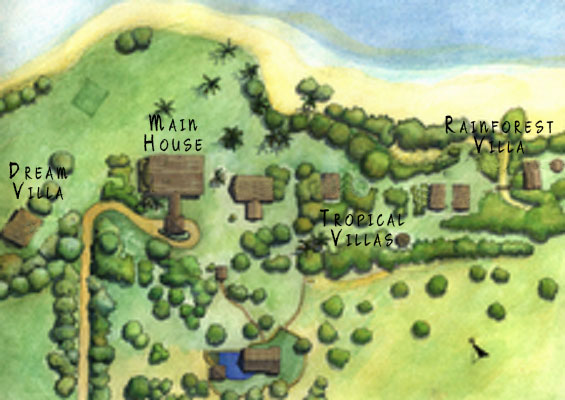 map of Paradise Cove Property